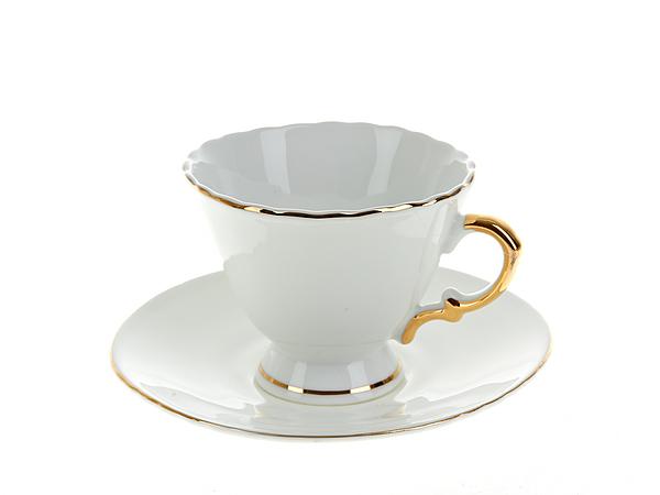 {} Best Home Porcelain Чайная пара Белое Золото (200 мл) бульонная пара 350 мл royal porcelain бульонная пара 350 мл