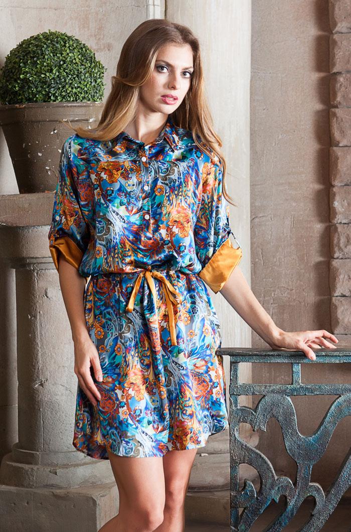 Туники, сарафаны Mia-Mia Туника-рубашка Yesenia (M) домашние халаты mia mia домашний халат yesenia xl