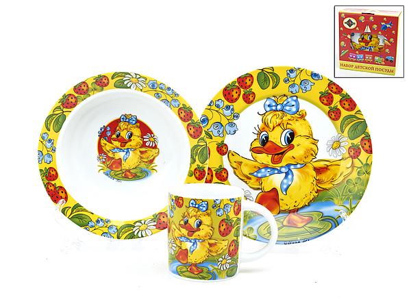 {} Polystar Детский набор посуды Утенок (Набор)