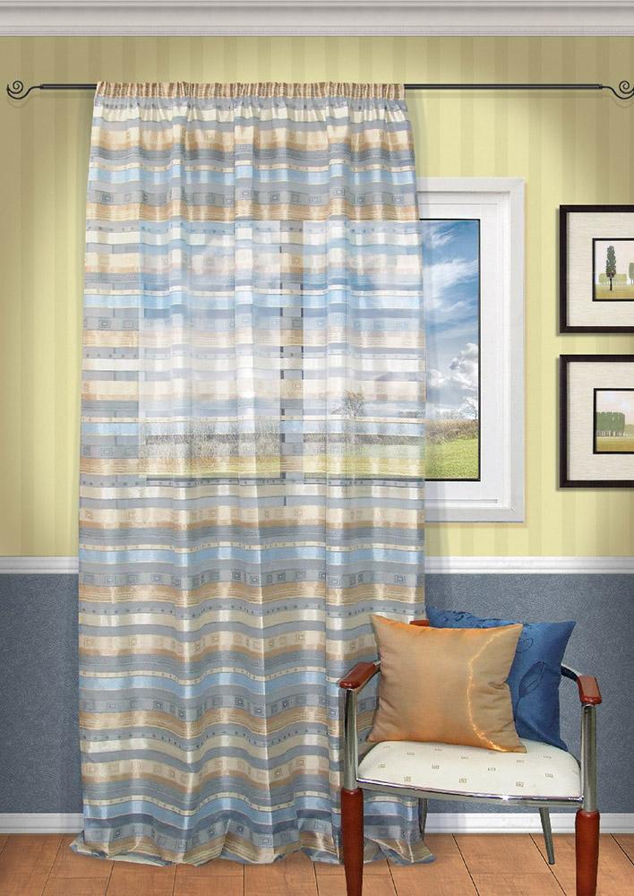 Шторы Kauffort Классические шторы Macadi - XL Цвет: Голубой шторы kauffort классические шторы cresh xl цвет шампань