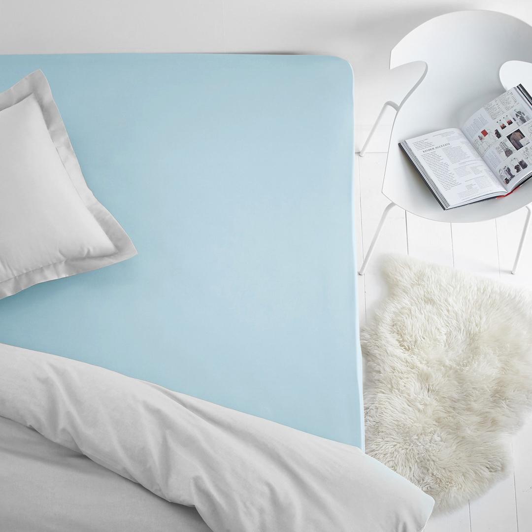 Простыни Dome Простыня на резинке Dome Цвет: Голубой (200х200) простыни candide простыня bamboo fitted sheet 130г м2 60x120 см