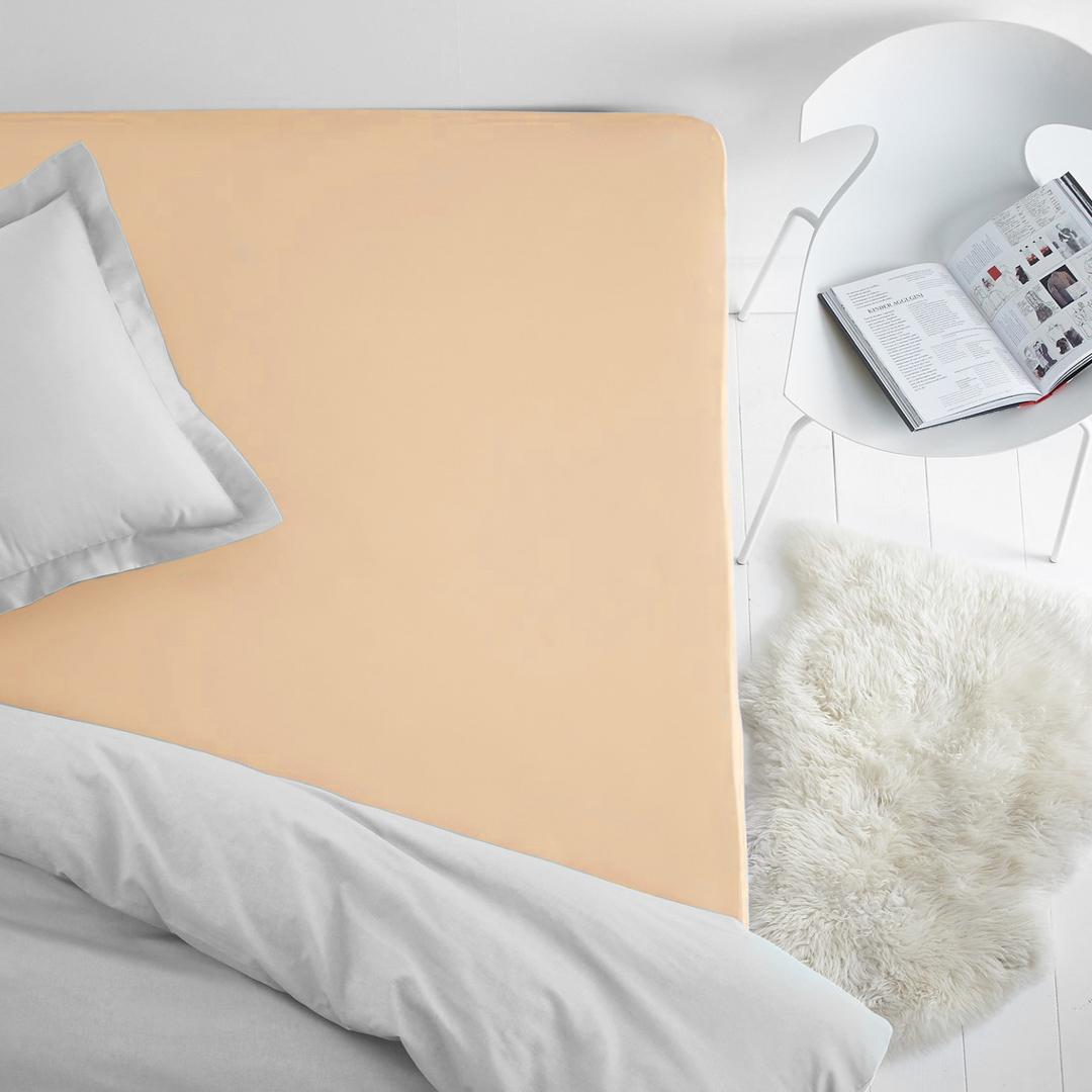Простыни Dome Простыня на резинке Dome Цвет: Персиковый (200х200) простыни candide простыня bamboo fitted sheet 130г м2 60x120 см