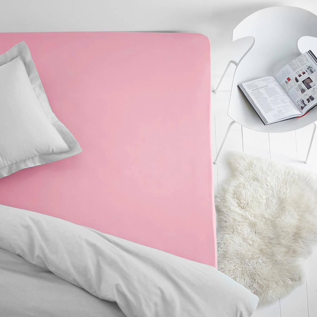 Простыни Dome Простыня на резинке Dome Цвет: Розовый (200х200) простыни lool простыня на резинке fitted sheet