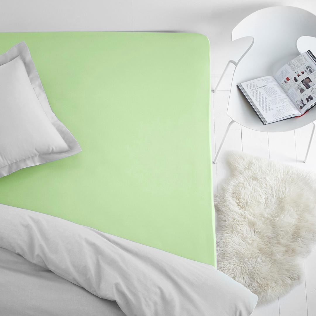 где купить Простыни Dome Простыня на резинке Dome Цвет: Салатовый (200х200) по лучшей цене
