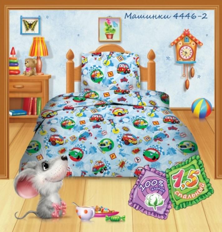 Детское Постельное белье Кошки-Мышки Детское Постельное белье Машинки (145х215 см)