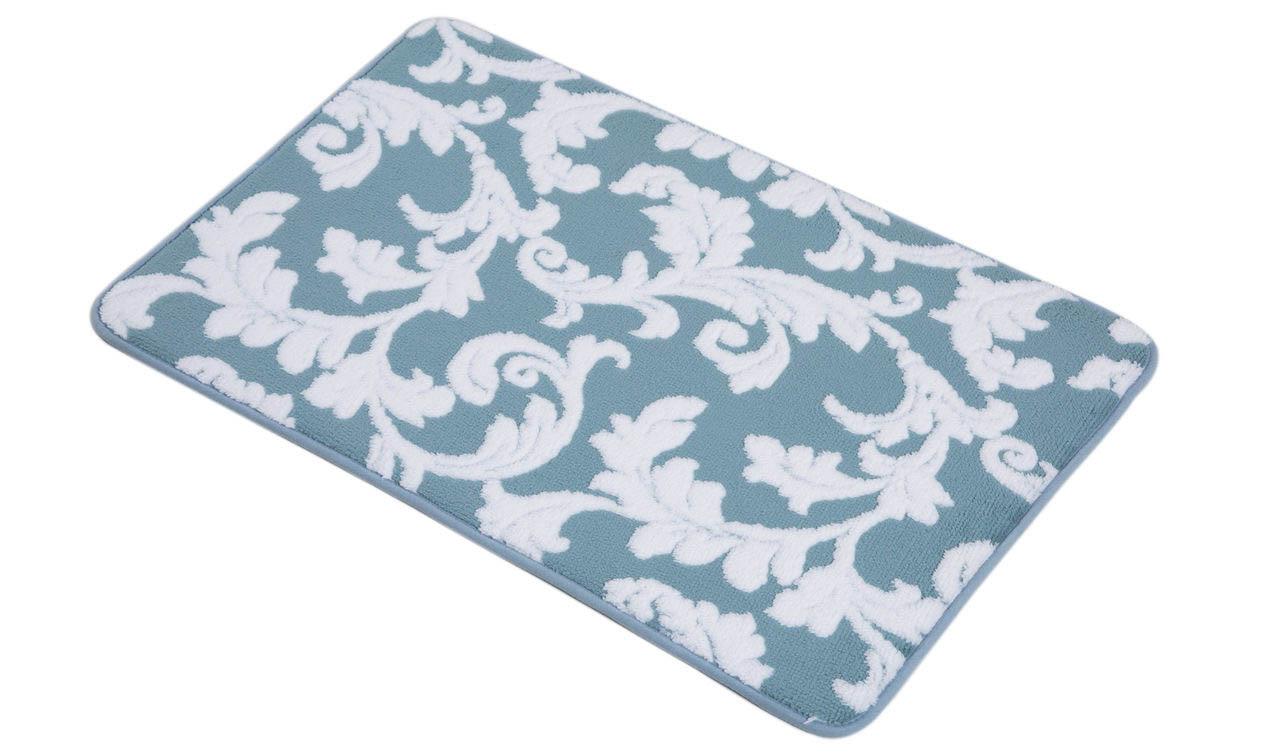 Аксессуары для ванной и туалета Arya Коврик для ванной Milos Цвет: Голубой, Белый (50х80 см) коврик для ванной арти м 50х80 см розанна