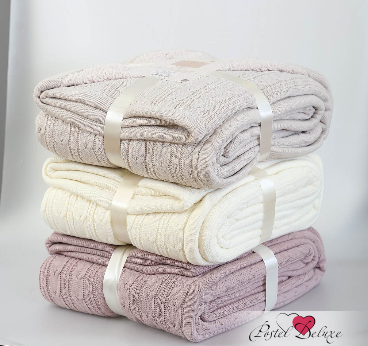 Плед Modalin Плед Leslie Цвет: Кремовый (160х220 см) modalin modalin полотенце petek цвет розовый 70х140 см