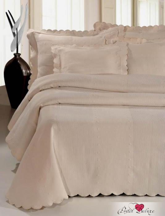 Бежевое покрывало на кровать купить