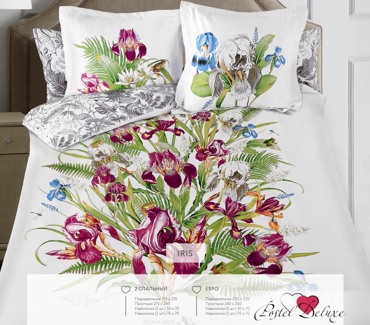 Постельное белье Mona Liza Постельное белье Iris (2 сп. евро) комплект пб 2 сп mona liza сатин жаккард royal 4 нав 2шт 70х70 и 2 шт