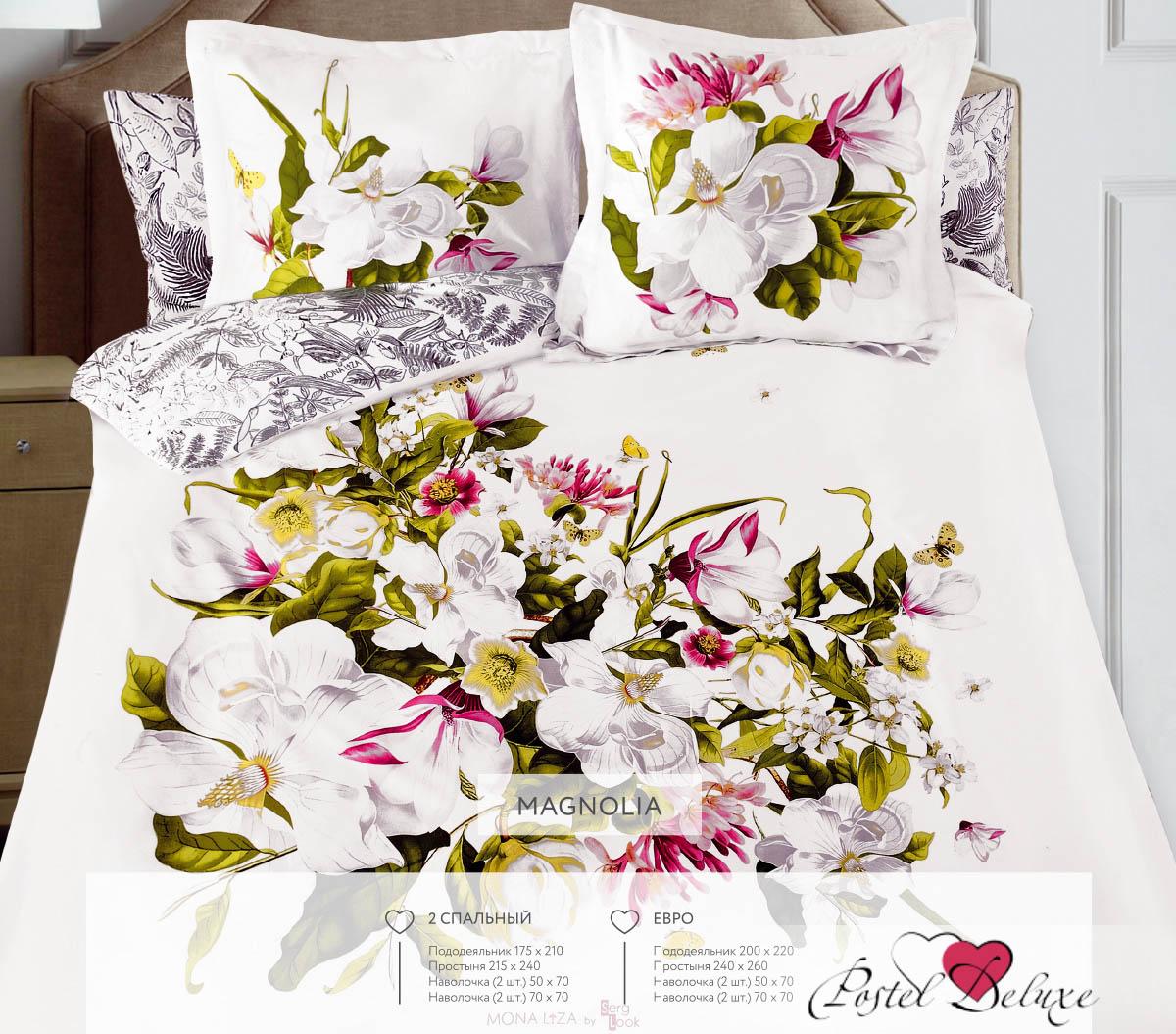 Постельное белье Mona Liza Постельное белье Magnolia (2 сп. евро) комплект пб 2 сп mona liza сатин жаккард royal 4 нав 2шт 70х70 и 2 шт