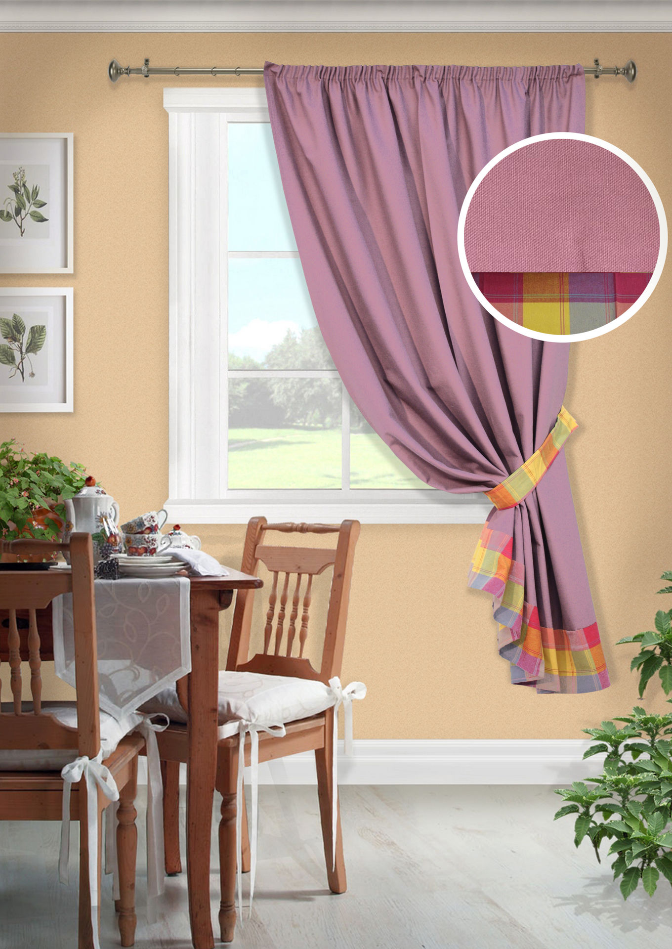Шторы Kauffort Классические шторы Monpasie Цвет: Фиолетовый шторы интерьерные kauffort штора provence k на тесьме 136х175