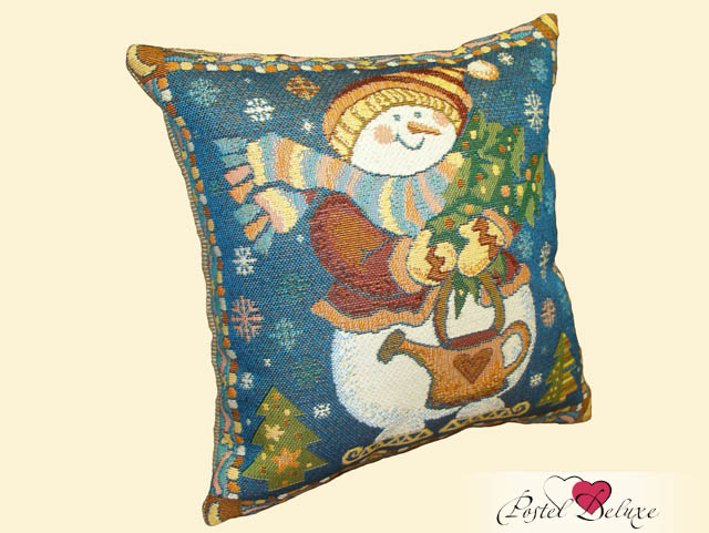 Декоративные подушки Мток Декоративная наволочка Снеговик (30х30)