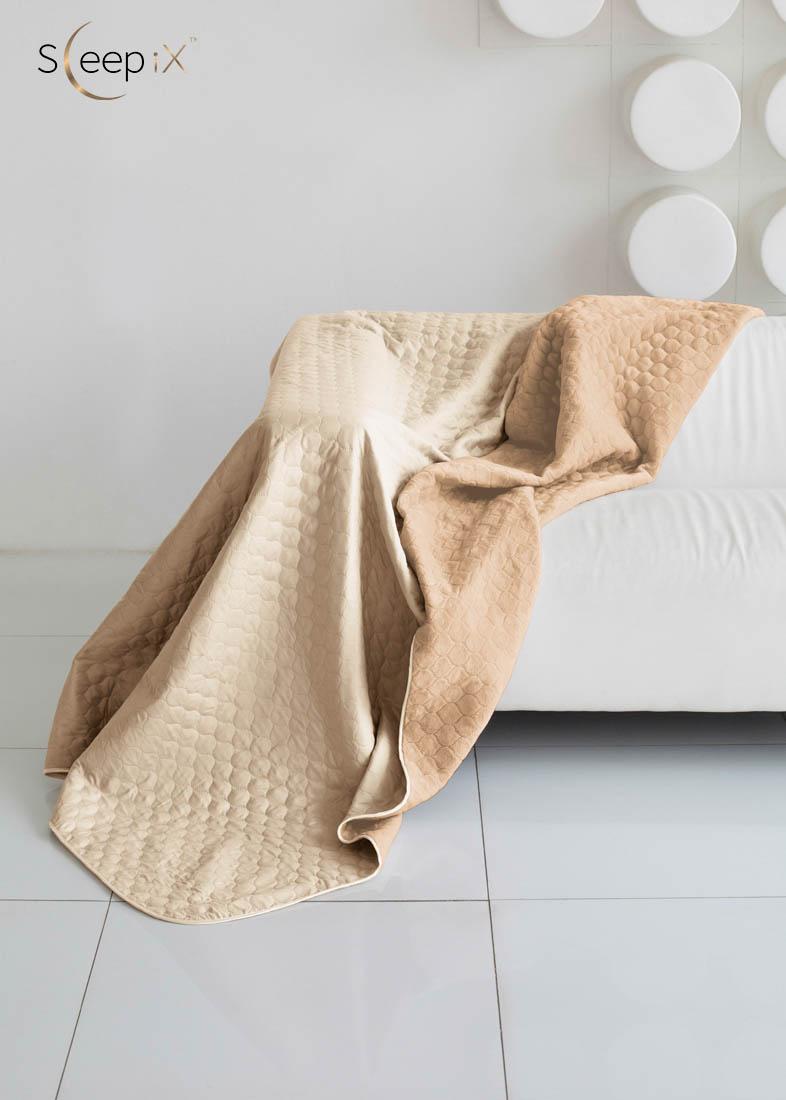{} Sleep iX Одеяло-покрывало Multi Blanket Цвет: Бежевый/Темно-Бежевый (200х220 см)