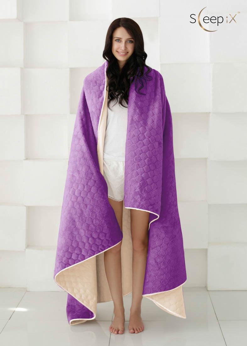 {} Sleep iX Набор Multi Set (с подушками) Цвет: Бежевый/Фиолетовый (220х240 см)