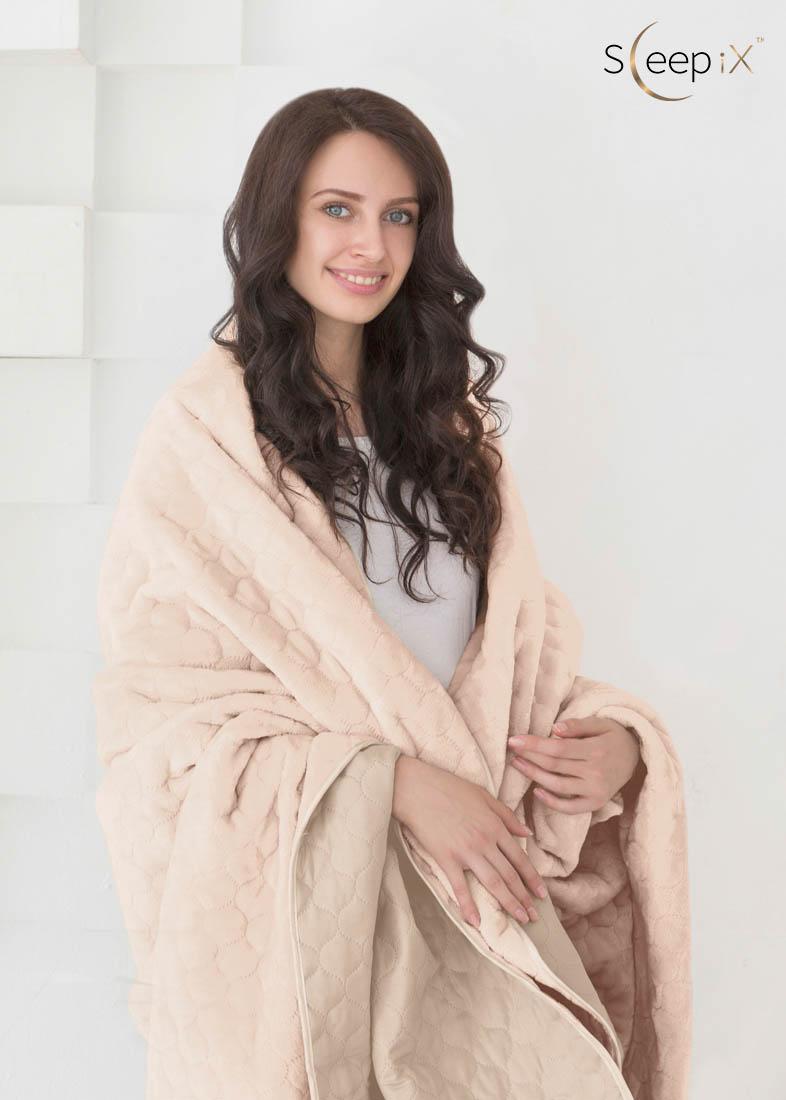 {} Sleep iX Набор Multi Set (с подушками) Цвет: Бежевый/Молочно-Розовый (220х240 см)