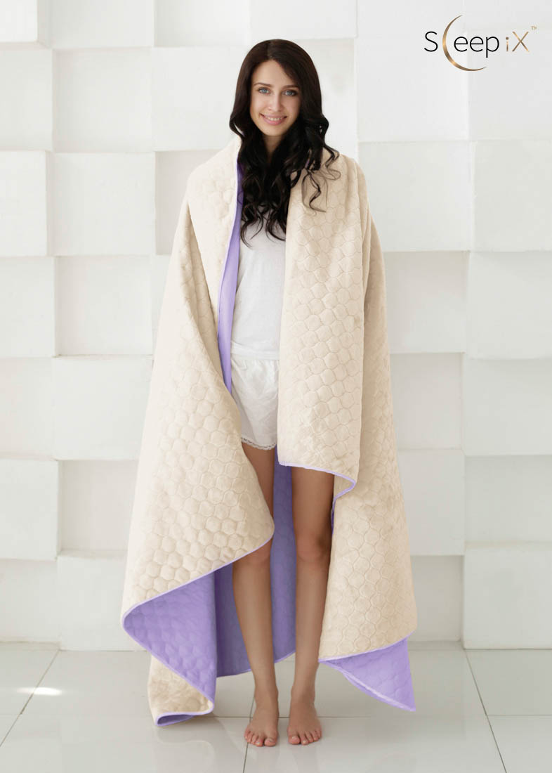 {} Sleep iX Набор Multi Set (с подушками) Цвет: Фиолетовый/Молочно-Серый (200х220 см)