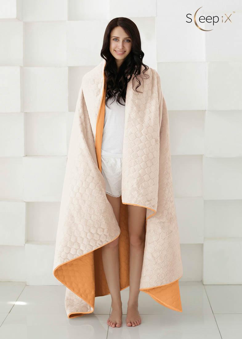 {} Sleep iX Набор Multi Set (с подушками) Цвет: Оранжевый/Молочно-Розовый (200х220 см)