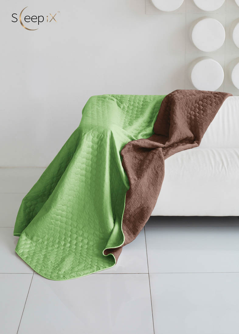 {} Sleep iX Одеяло-покрывало Multi Blanket Цвет: Салатовый/Коричневый (200х220 см)
