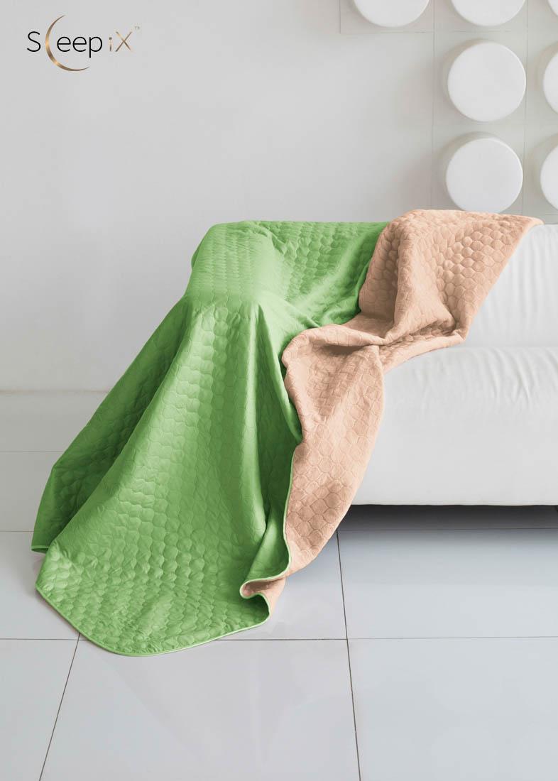 {} Sleep iX Одеяло-покрывало Multi Blanket Цвет: Салатовый/Темно-Бежевый (200х220 см)