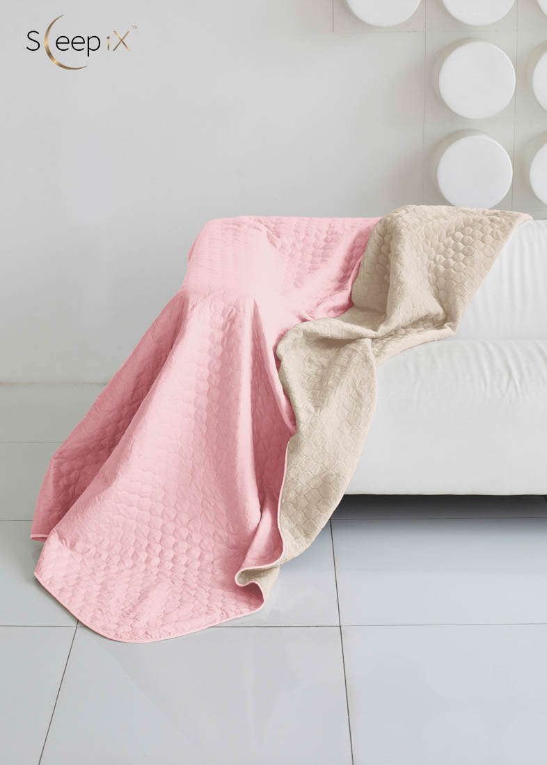 {} Sleep iX Набор Multi Set (с подушками) Цвет: Розовый/Молочно-Серый (200х220 см)
