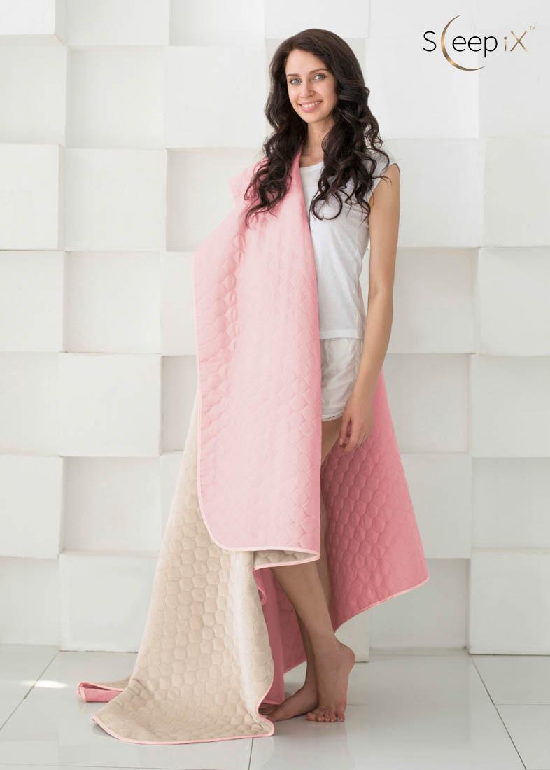 {} Sleep iX Одеяло-покрывало Multi Blanket Цвет: Розовый/Молочно-Серый (200х220 см)