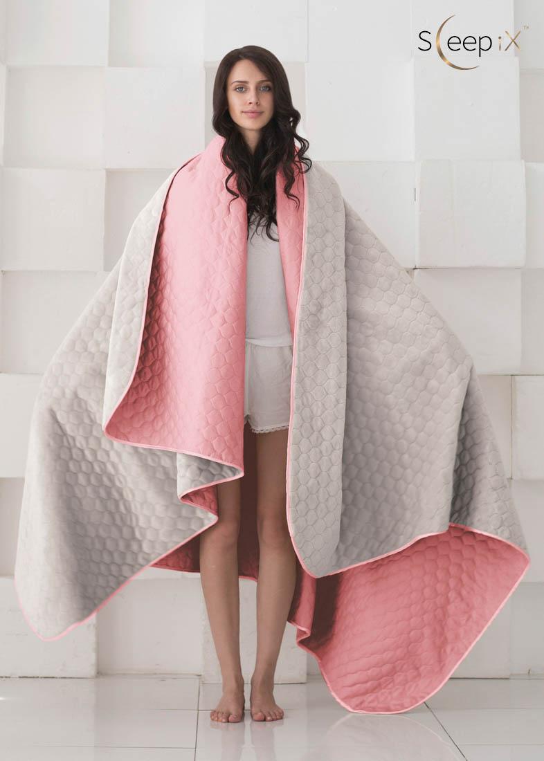 {} Sleep iX Набор Multi Set (с подушками) Цвет: Розовый/Серый (180х220 см)