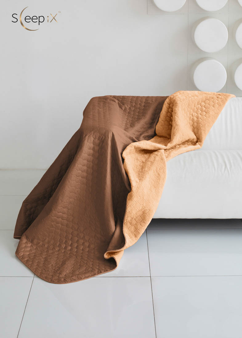 {} Sleep iX Одеяло-покрывало Multi Blanket Цвет: Коричневый/Рыжий (200х220 см)