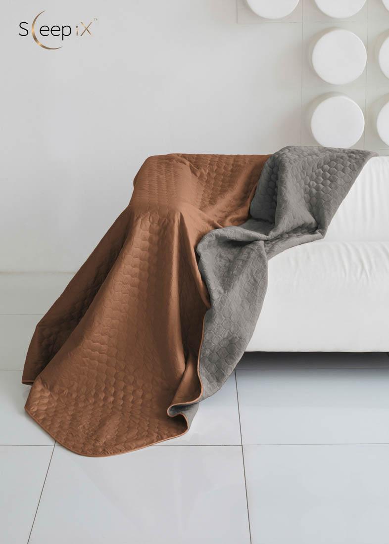 {} Sleep iX Одеяло-покрывало Multi Blanket Цвет: Коричневый/Мышиный (200х220 см)