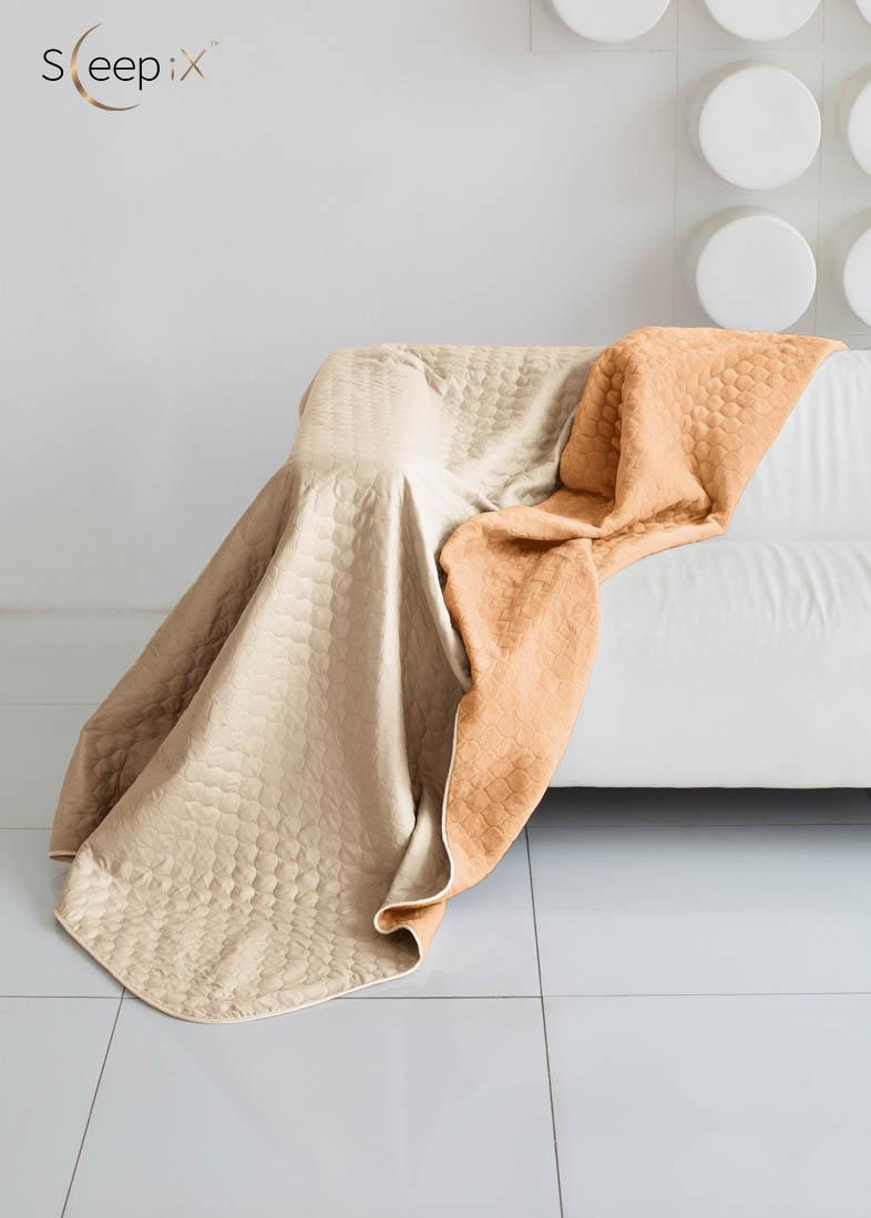 {} Sleep iX Одеяло-покрывало Multi Blanket Цвет: Бежевый/Рыжий (200х220 см)
