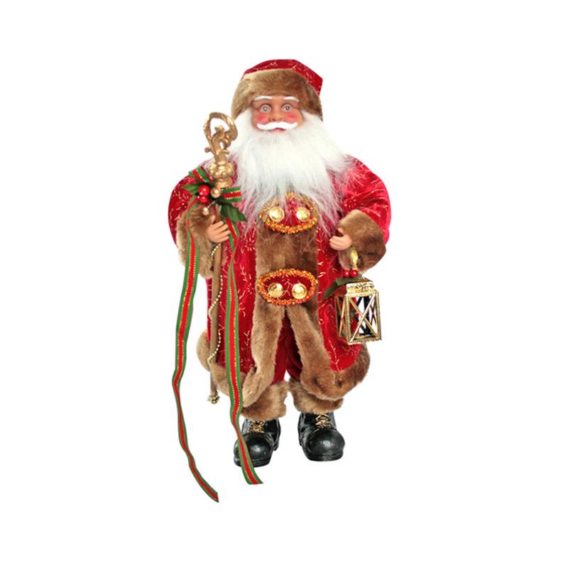 {}  Фигурка под елку Дед Мороз с Посохом и Фонарем (40 см) homephilosophy фигурка с крючком дед мороз снеговик ma 189