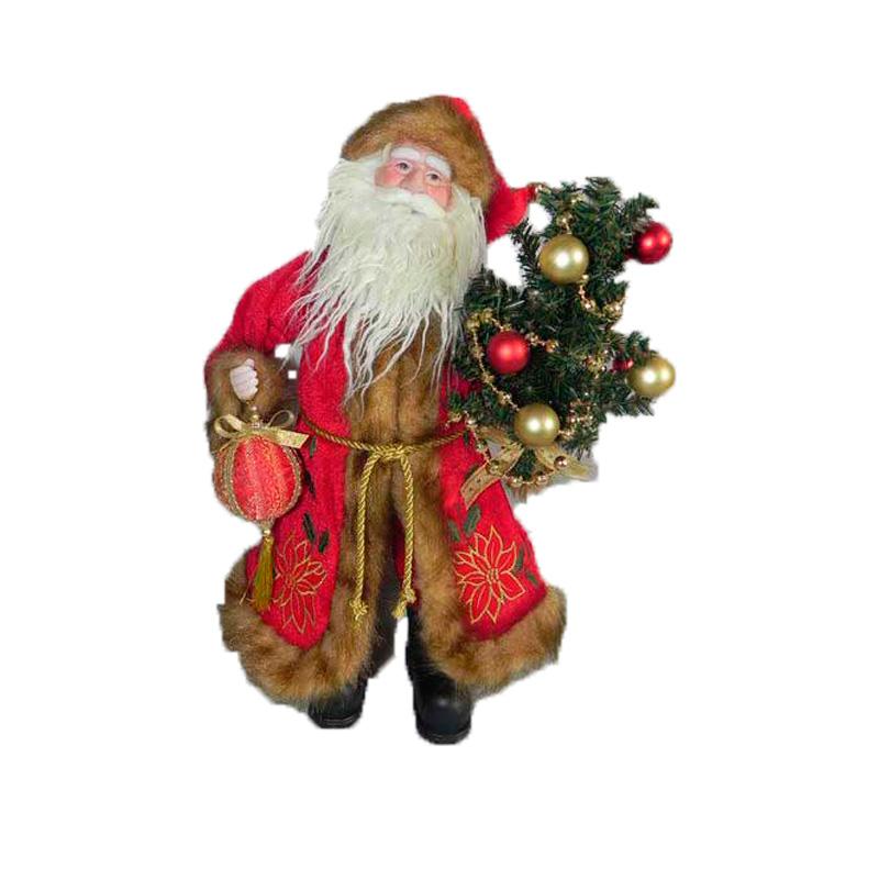 {}  Фигурка под елку Дед Мороз с Елочкой (43 см)