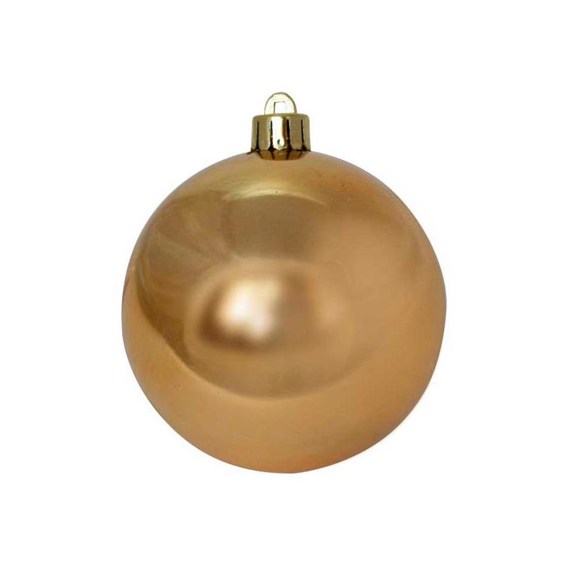 {}  Шар Однотонный Цвет: Золотой Блестящий (8 см) новогоднее украшение crystal deco шар блестящий