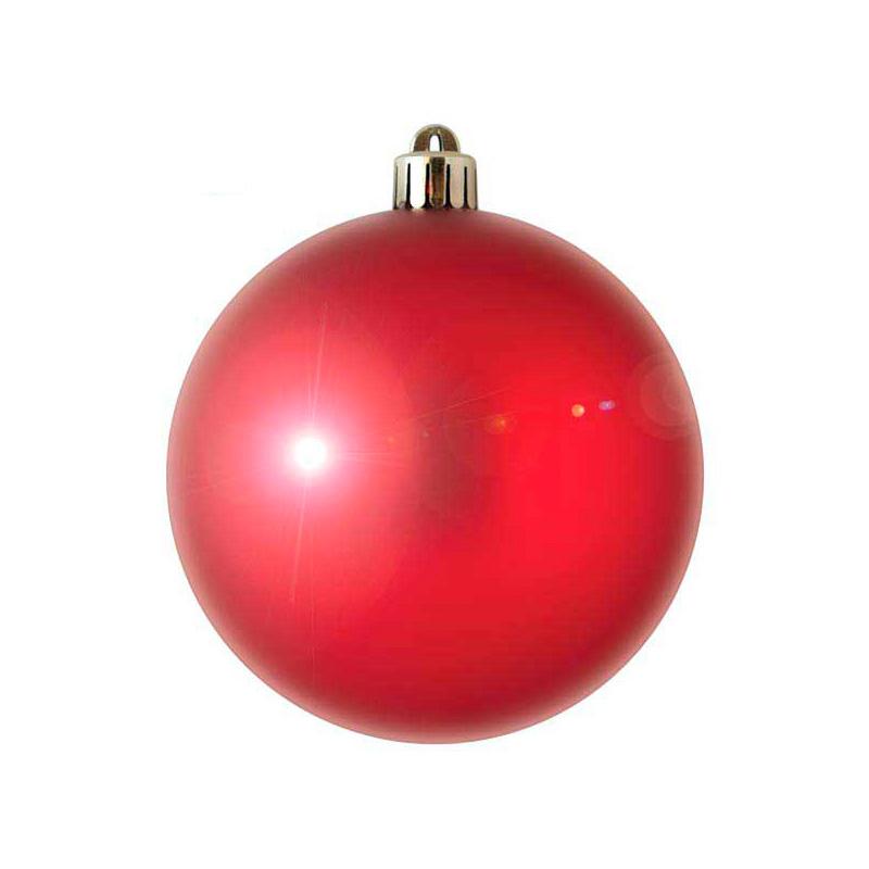{}  Шар Однотонный Цвет: Красный Блестящий (7 см) новогоднее украшение crystal deco шар блестящий