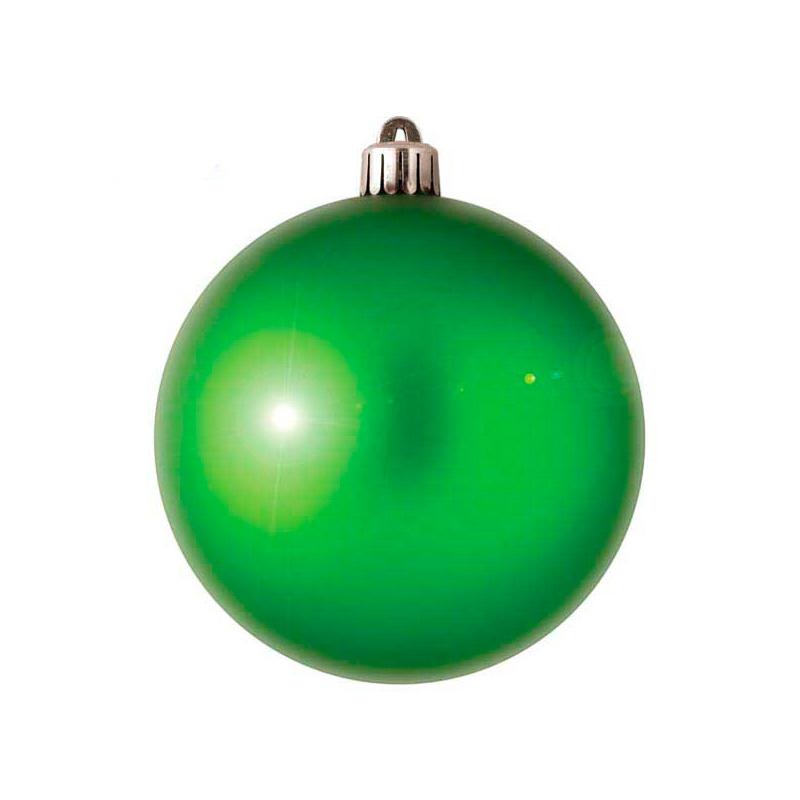 {}  Шар Однотонный Цвет: Зеленый Блестящий (7 см) новогоднее украшение crystal deco шар блестящий