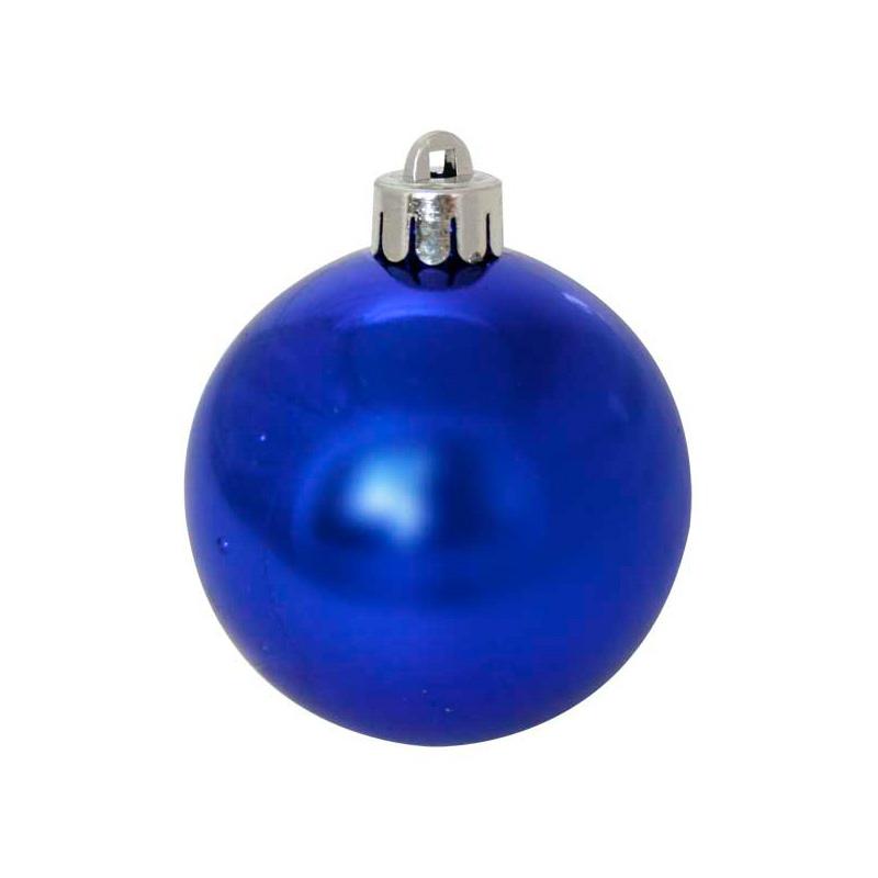 {}  Набор шаров Однотонный Цвет: Синий Блестящий (3 см - 24 шт) набор шаров 60мм 9шт пластик в тубе золото