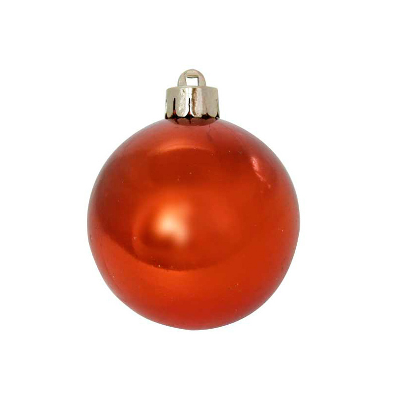 {}  Шар Однотонный Цвет: Оранжевый Блестящий (6 см) бусина сердолик оранжевый полосчатый сплюснутый шар 6 5 мм 1 шт