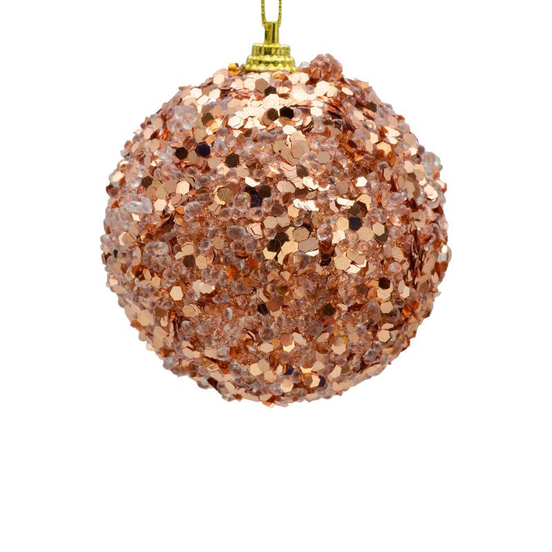 {}  Шар Бисерный Цвет: Пурпурный (8 см) украшение для интерьера сверкающий шар