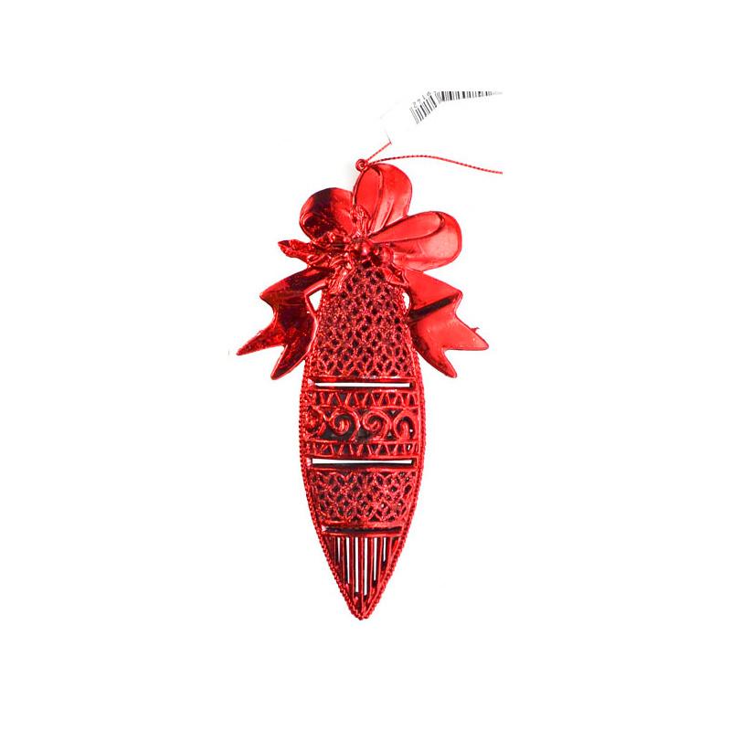 {} Подвеска декоративная Ажурная Цвет: Красный (16 см) подвеска декоративная снежинка ажурная пвх 61 см