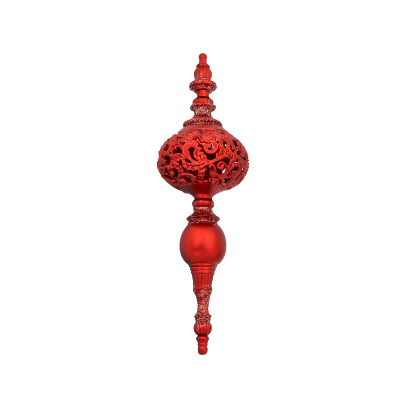 {} Подвеска декоративная Ажурная Цвет: Красный (20 см) подвеска декоративная снежинка ажурная пвх 61 см