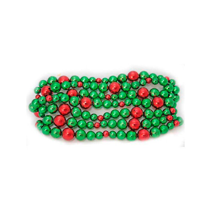 {}  Елочные бусы блестящие Цвет: Зеленый, Красный (270 см) бусы olere бусы