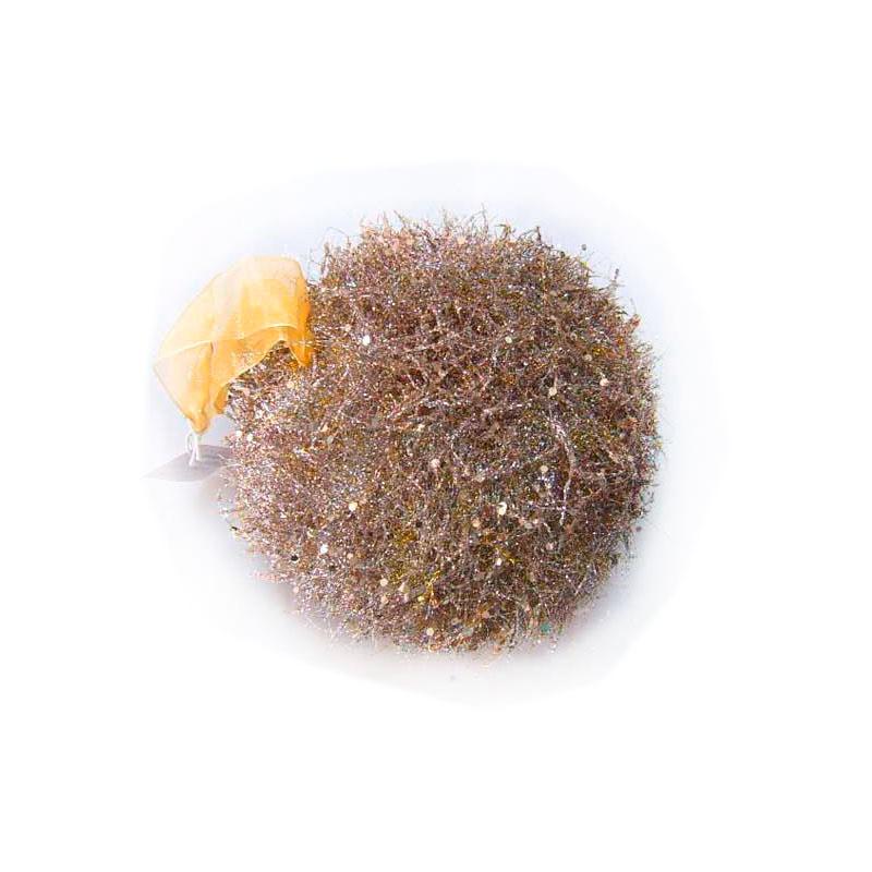 {} Подвеска декоративная Шар Золотистые Нити (13 см) подвеска декоративная пингвин 13 см