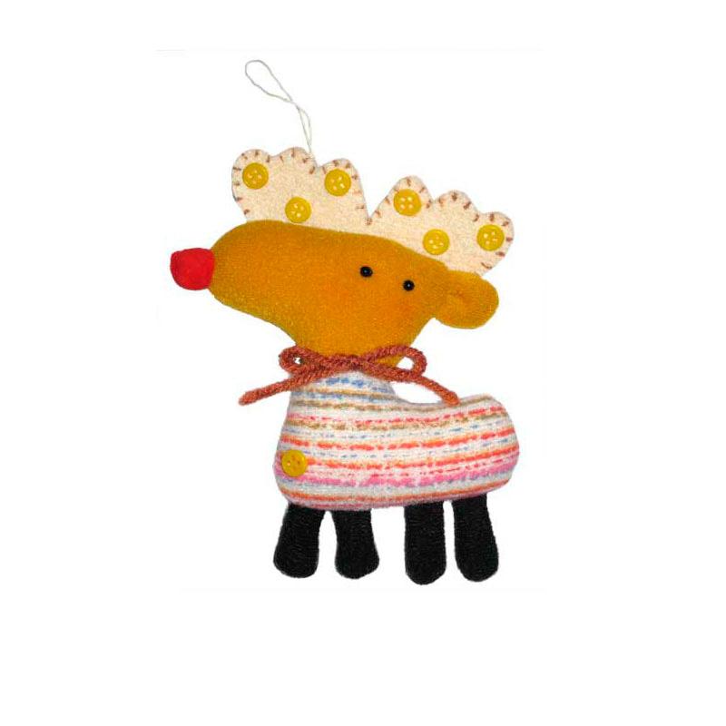 {} Подвеска декоративная Олень (12 см) подвеска декоративная пингвин 13 см