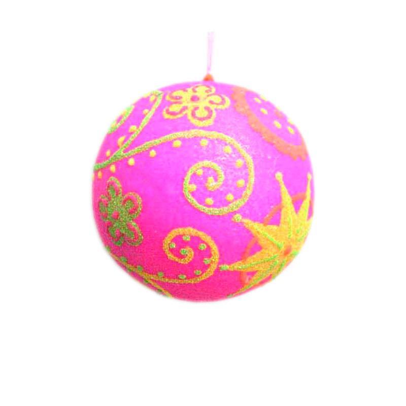 {}  Шар Ретро Цвет: Розовый (13 см) украшение для интерьера сверкающий шар