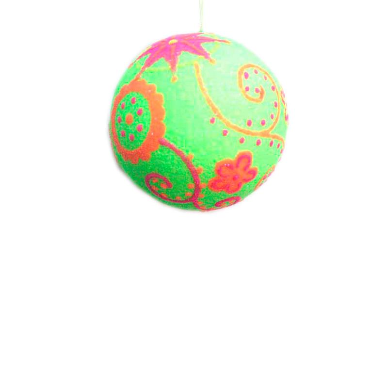 {}  Шар Ретро Цвет: Лайм (13 см) украшение для интерьера сверкающий шар