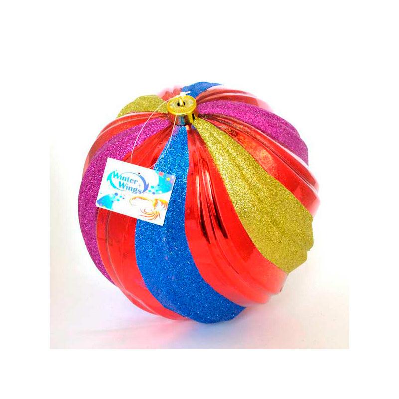 {}  Шар Радуга (25 см) украшение для интерьера сверкающий шар