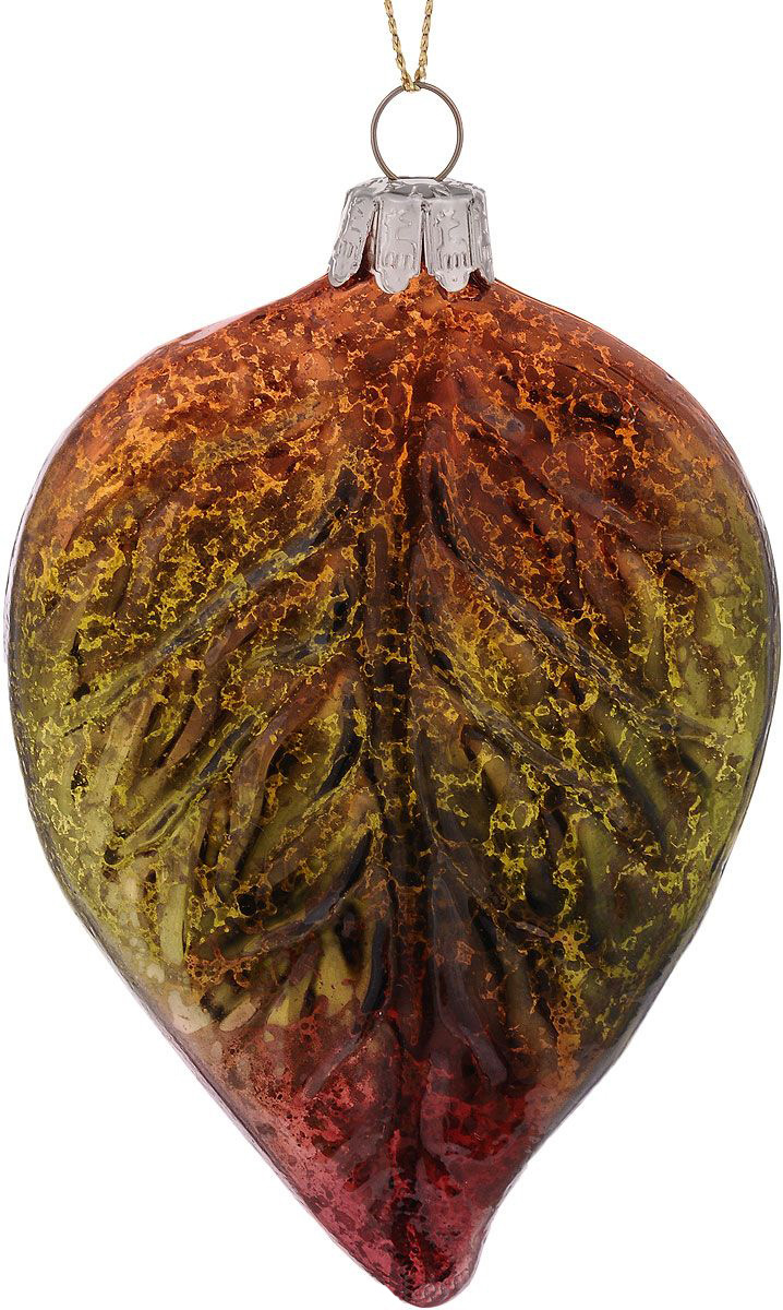 {}  Шар Березовый Лист (7х12 см) декопир лист в хабаровске