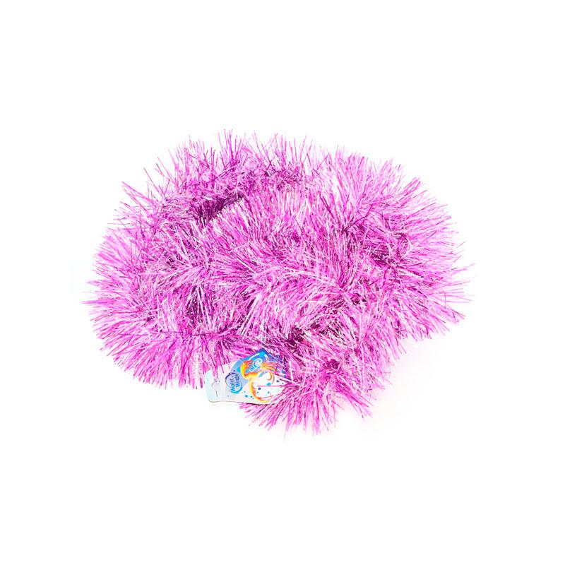 {}  Мишура одноцветная Иней Цвет: Фиолетовый (10х200 см) антисептик иней woodmaster 10 кг
