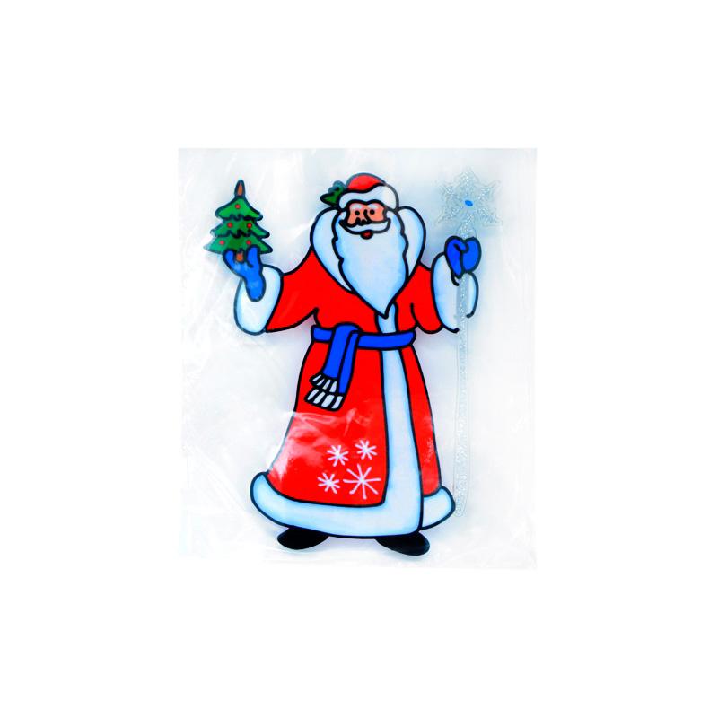 {} Наклейка-панно Дед Мороз (25х33 см)
