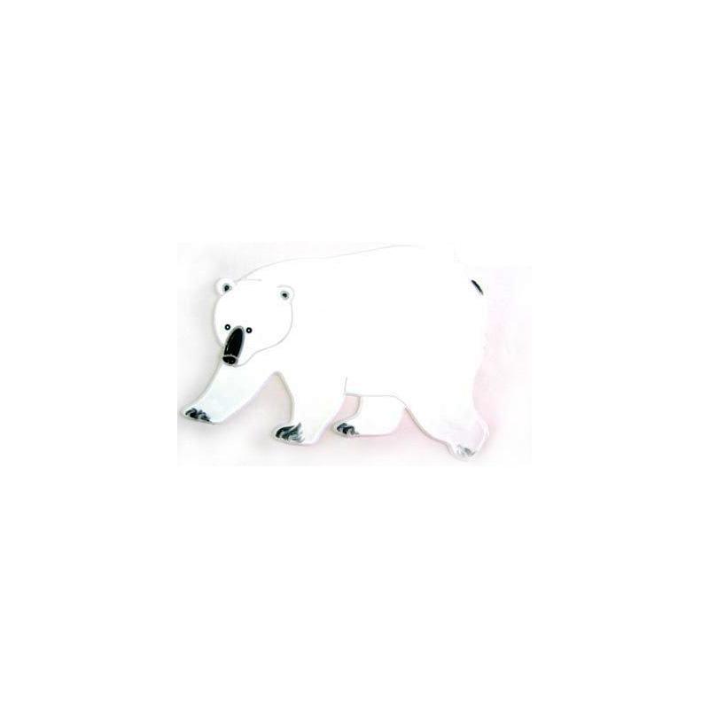 {}  Наклейка-панно Белый Медведь (20х20 см)