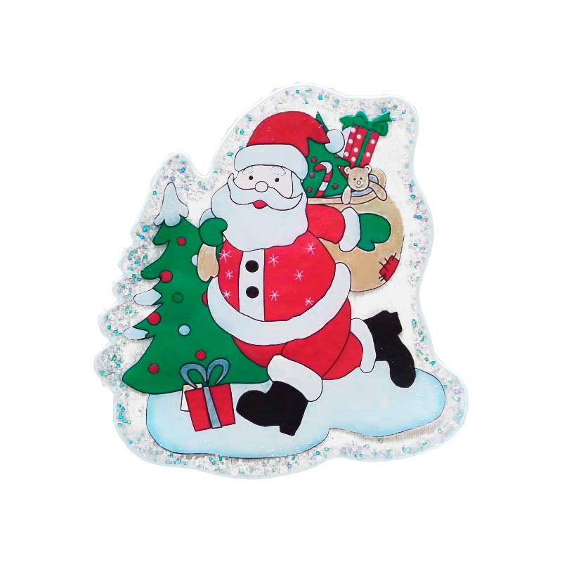 {} Наклейка-панно Дед Мороз (20х20 см) наклейка панно петух 20х20 см